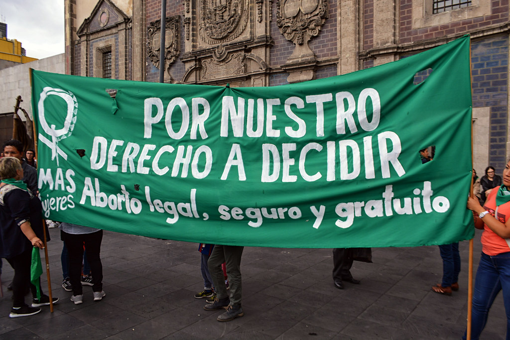 A demonstration in support of the abortion law in Argentina (Credit: Flickr)