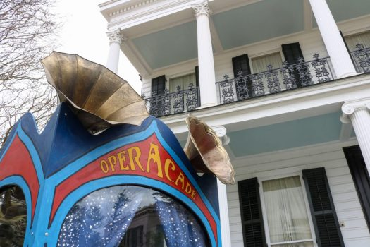 """One of Opera on Tap's new traveling """"OperaCades"""" in New Orleans. (Credit: Dylan Trần)"""