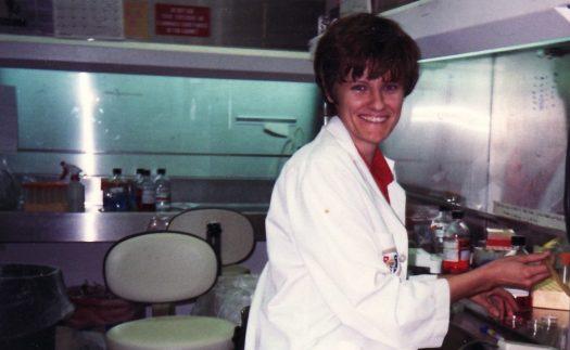 Kati Kariko, shown here in 1989, worked for years in labs before her work would be taken seriously. (Credit: Kati Kariko)