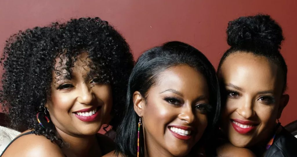The founders of e-commerce platform HellaBlack (from l to r): Layla Nielsen, Natalie Robinson and Love-Leigh Trimiew (Courtesy HellaBlack)