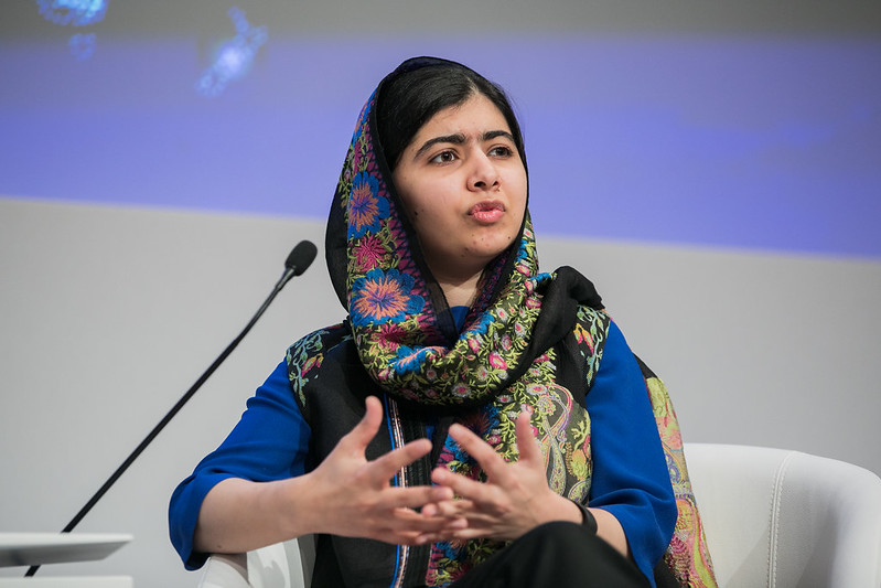 Malala Yousafzai's nonprofit, the Malala Fund, has been raising money for Afghan girls' education since 2017. [Credit: World Economic Forum // Flickr]
